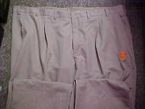 Clemson Tigers Team Issued Un-Hemmed Nike Fit Dry Tan Pro-Line Golf Pants Sz: 50