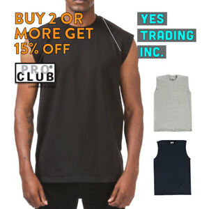 PROCLUB PRO CLUB MENS CASUAL TANK TOP T SHIRT SLEEVELESS SHIRTS MUSCLE TEE GYM $6.99