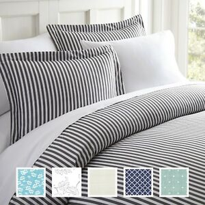 Hotel Quality 3 Piece Ultra Soft Patterned Duvet Cover Sets 8 Unique Patterns