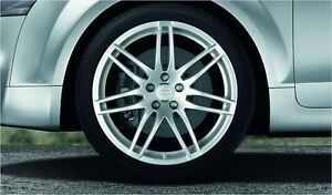 Audi Original Complete Summer Wheel Set 7 Double Spokes Design Sline 90J x 19