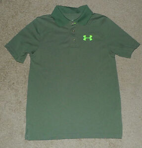 Boys Youth Small S YSM Under Armour UA Polo Golf Collared Loose Athletic Shirt