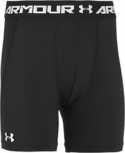 Under Armour Boys Mid Compression Shorts- Black