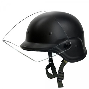 Tactical Military Airsoft M88 PASGT Kelver Swat Helmet with Clear Visor