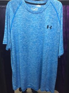 under armour Sports Top T Shirt Mens Blue Grey White Black Size Loose Fit XL