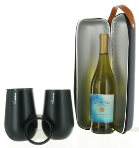Rabbit Wine To Go Set Wine Bottle Carrier amp; Two Wine Tumblers for HOT or COLD