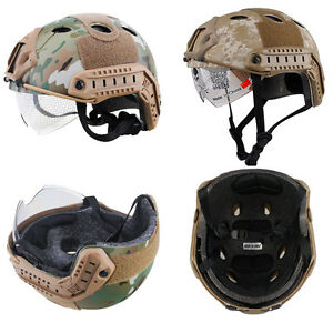 Tactical Airsoft Fast Helmet Paintball Ballistic ABS Adjustable Helmet Multicam