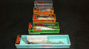 Lot of 5 VINTAGE RAPALA ORIGINAL FISHING LURES in Boxes Sinking Rattl n rap etc