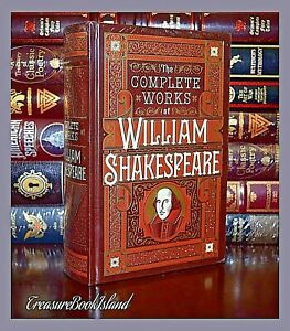 The Complete Works of William Shakespeare New Sealed Leather Bound Collectible