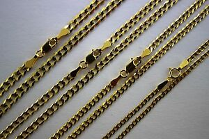 14K SOLID GOLD CUBAN LINK CHAIN NECKLACE FOR MEN WOMEN 2mm ~ 3.5mm 16