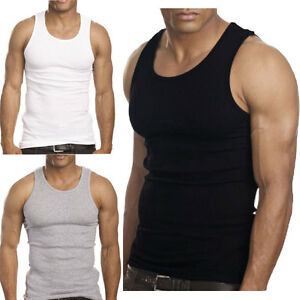 3 to 12 Packs Mens 100% Cotton Tank Top A Shirt Wife Beater Undershirt Lot $10.65