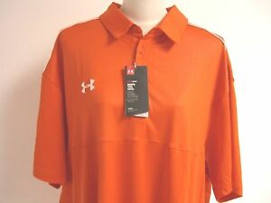 ~NICE~BNWT~UNDER ARMOUR~MEN'S~ORANGE POLO~HEAT GEAR~LOOSE~SHIRT~3XL