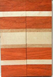 Laminated Padauk Maple (2 pc) Knife Scales 3/8