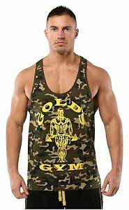 PunaFlex Golds Gym Mens Tank Top … Small Green Camo