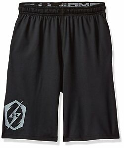 Under Armour Boys Raid Shorts BlackSteel Youth X-Small