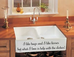 SINK OR WALL DECAL KITCHEN DINING LIVING ROOM WALL ART VINYL STICKER HOME DIY