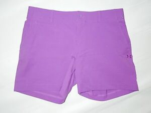 Under Armour  womens Links Mega Magenta shorty Golf Shorts size 6 retail $70