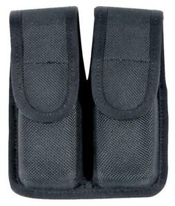 BLACKHAWK 44A000BK CORDURA DOUBLE MAG POUCH SINGLE STACK MAGAZINE 9MM40 CAL45