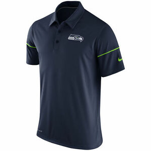 NIKE SEATTLE SEAHAWKS NFL COACHES TEAM ISSUE DRI FIT PERFORMANCE POLO SHIRT L-2X