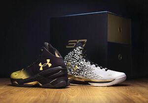 IN HAND Sz 9.5 Under Armour LIMITED EDITION Curry BACK 2 BACK MVP Pack