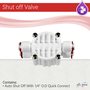 Auto Shut Off Valve Quick Connect Fittings for RO Reverse Osmosis Water System $11.95