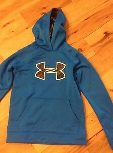 UNDER ARMOUR BOY'S X-Small UA COLDGEAR STORM FLEECE BIG LOGO TWISTED HOODIE NWT