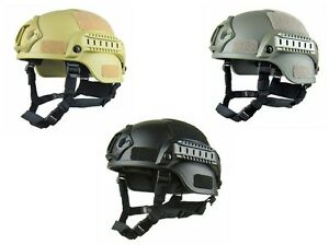US ARMY MILITARY TACTICAL ACTION TYPE COMBAT MICH2000 HELMET THICK HARD SHELL