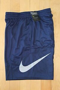 NWT Men's NIKE Big & Tall Swoosh Dri-Fit Basketball Shorts NAVY BLUEGRAY 4XL