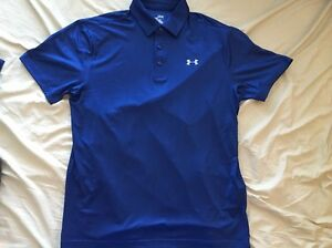 Under Armour Men's HeatGear Golf Playoff Polo Shirt XL 1253479 Blue New