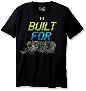 Under Armour Boys Built For Speed T-Shirt BlackMeridian Blue Youth X-Large