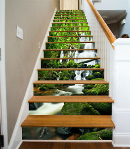 3D river tropical stairs Risers Decoration Photo Mural Vinyl Decal Wallpaper US