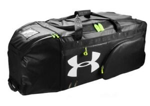 Under Armour UA XLRB XL Football Equipment Roller Bag Duffle Black UASB-XLRB