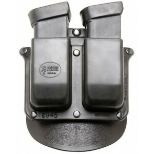 FOBUS 6945P DOUBLE MAG PADDLE  DOUBLE STACK BLACK PLASTIC