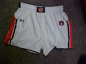 NCAA Auburn Tigers Women's Game Worn White Under Armour Basketball Shorts Size-M