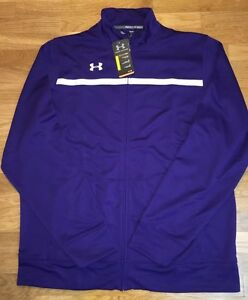 Under Armour Mens Loose All Season Gear Full Zip Jacket. Purple. Size XL Tall.