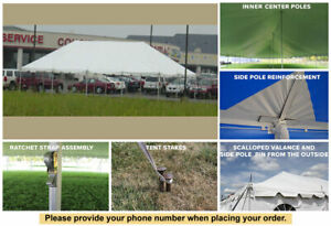 30x90 White Vinyl Classic Pole Tent for Wedding Outdoor Event Party Catering