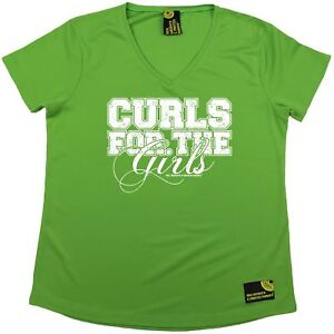 SWPS Curls For The Girls Dry Fit Sports V NECK T SHIRT $14.42