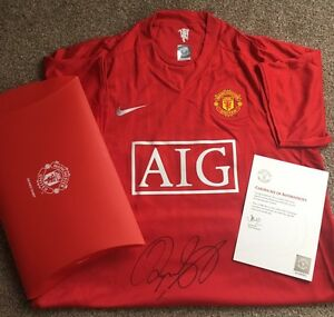 Ryan Giggs Signed Manchester United 2008 Home Shirt Autograph Man Utd COA Legend