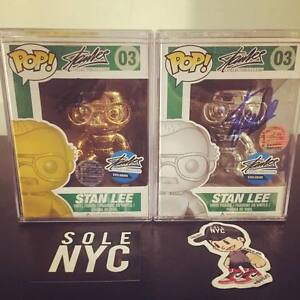 Funko Pop Stan Lee Gold Silver Metallic Chrome Edition Signed SetRare 10pc 110