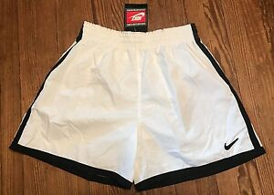 NWT MENS VINTAGE NIKE WHITE BLACK SHORTS SZ XL TRAINING RUNNING BUILT IN LINER