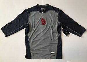 St. Louis Cardinals Nike Authentic Collection Hypercool 34 Sleeve Shirt XL NWT