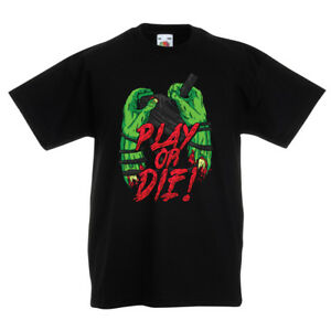 T shirts for kids Play or Die - for gamers Only ! Cool gift ideas gaming stuff