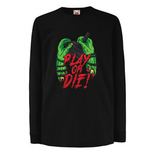 T-shirt for kids Play or Die - for gamers Only ! Cool gift ideas gaming stuff