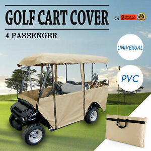 4 Passenger Golf Cart Cover Driving Enclosure Waterproof Person Roll-up Door