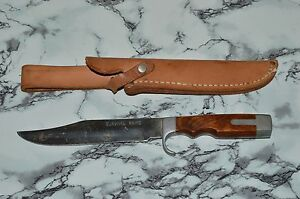 Vintage OLSEN OK H.C. MI USA Survival Knife #710 Hunting Bowie Knife w Sheath