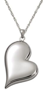 Heart Ash Holder Cremation Urn Keepsake Pendant Necklace Jewelry Sterling Silver