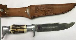 Vintage Edge Mark Original Bowie Knife Solingen Germany With Sheath # 55
