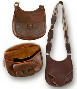 WOODLANDS BEAVERTAIL POSSIBLES  BAG BUFFALO LEATHER SHOOTERS BLACK POWDER