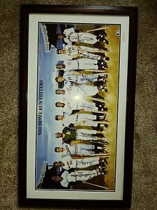 500 Home Run Hitters Autographed 25x44inch Framed 1988 with letter of authensity
