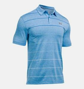NEW Under Armour CoolSwitch Pivot Polo WaterBlue Marker XXL Golf Shirt
