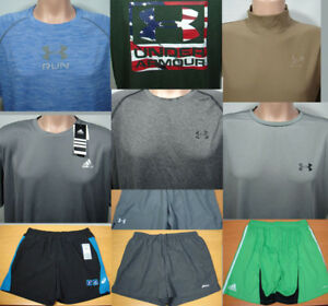 10 Under Armour Nike Avia Adidas Athletic Shirt Shorts LOT Mens size XL